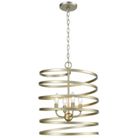 ELK 81354/4 Whirlwind 4 Light 17 inch Aged Silver Pendant Ceiling Light