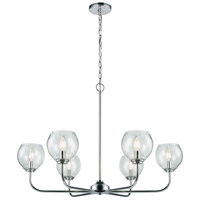 ELK Polished Chrome Glass Chandeliers