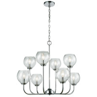 ELK 81365/4+4 Emory 8 Light 30 inch Polished Chrome Chandelier Ceiling Light
