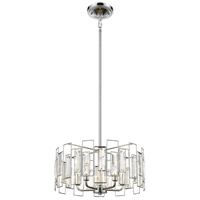 Crosby 5 Light 16 inch Polished Chrome Pendant Ceiling Light
