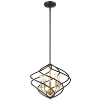 ELK 81396/5 Iredell 5 Light 17 inch Oil Rubbed Bronze with Satin Brass Pendant Ceiling Light