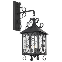 Columbian 3 Light 36 inch Espresso Outdoor Sconce