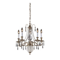 Nulco by ELK Lighting Hereford 5 Light Chandelier in Aged Silver 82020/5