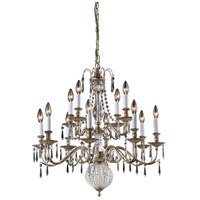 Nulco by ELK Lighting Hereford 12 Light Chandelier in Aged Silver 82021/8+4