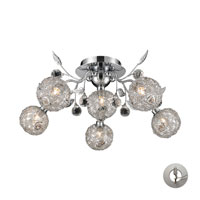 Nulco by ELK Lighting Sonne 6 Light Flush Mount in Chrome 82041/6-LA