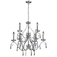 Nulco by ELK Lighting Sherbourne 9 Light Chandelier in Chrome 82056/6+3