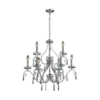 ELK 82056/6+3 Sherbourne 9 Light 28 inch Chrome Chandelier Ceiling Light