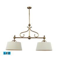 ELK 83005/2-LED Hadley LED 41 inch Brass Billiard/Island Ceiling Light