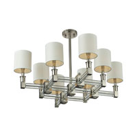 Nulco by ELK Lighting Berwick 8 Light Chandelier in Polished Nickel & Clear 83020/8