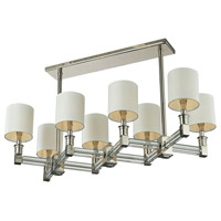 Nulco by ELK Lighting Berwick 8 Light Pendant in Polished Nickel & Clear 83021/8