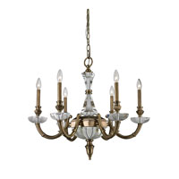 Nulco by ELK Lighting Arundel 6 Light Chandelier in Aged Brass 83040/6