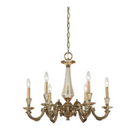 ELK 83050/6 Kenilworth 6 Light 27 inch Aged Brass Chandelier Ceiling Light
