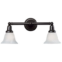 Vintage Bath 2 Light 18 inch Oil Rubbed Bronze Vanity Wall Light