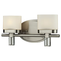 Tassoni 2 Light 12 inch Satin Nickel Vanity Wall Light