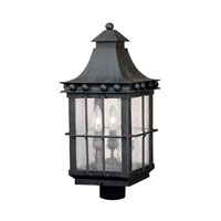 Taos 3 Light 23 inch Espresso Outdoor Post Light