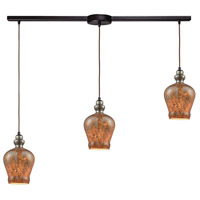 Sojourn 3 Light 36 inch Oil Rubbed Bronze Linear Bar Pendant Ceiling Light