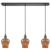 Sojourn 3 Light 36 inch Oil Rubbed Bronze Pendant Ceiling Light, Linear Pan