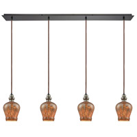 Sojourn 4 Light 46 inch Oil Rubbed Bronze Pendant Ceiling Light, Linear Pan