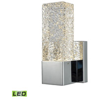 ELK 85105/LED Cubic Ice LED 4 inch Polished Chrome ADA Sconce Wall Light