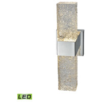 ELK 85106/LED Cubic Ice LED 4 inch Polished Chrome ADA Sconce Wall Light