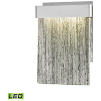 Meadowland LED 8 inch Satin Aluminum with Polished Chrome ADA Sconce Wall Light