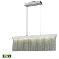 Meadowland LED 32 inch Satin Aluminum with Polished Chrome Island Light Ceiling Light