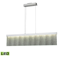 Meadowland LED 48 inch Satin Aluminum and Polished Chrome Billiard Island Ceiling Light