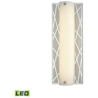 ELK 85130/LED Captiva LED 5 inch Polished Stainless with Matte Nickel Vanity Light Wall Light