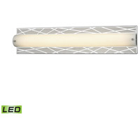 ELK 85131/LED Captiva LED 25 inch Polished Stainless with Matte Nickel Vanity Light Wall Light