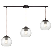 ELK 85210/3L Kendal 3 Light 36 inch Oil Rubbed Bronze Pendant Ceiling Light in Linear with Recessed Adapter