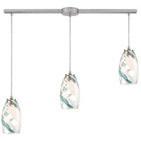 ELK 85211/3L Turbulence 3 Light 36 inch Satin Nickel Pendant Ceiling Light in Linear with Recessed Adapter
