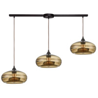 ELK 85212/3L Hazelton 3 Light 36 inch Oil Rubbed Bronze Pendant Ceiling Light in Linear with Recessed Adapter