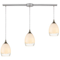 ELK 85214/3L Cirrus 3 Light 36 inch Satin Nickel Pendant Ceiling Light in Linear with Recessed Adapter