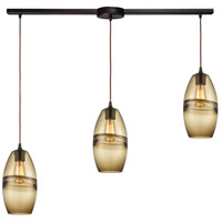 ELK 85251/3L Melvin 3 Light 36 inch Oil Rubbed Bronze Pendant Ceiling Light in Linear with Recessed Adapter