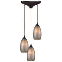 ELK 85256/3 Illuminessence 3 Light 12 inch Oil Rubbed Bronze Mini Pendant Ceiling Light in Triangular Canopy