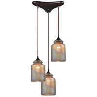 ELK 85257/3 Illuminessence 3 Light 12 inch Oil Rubbed Bronze Pendant Ceiling Light in Triangular Canopy