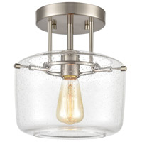 ELK 85271/1 Jake 1 Light 9 inch Satin Nickel Semi Flush Mount Ceiling Light