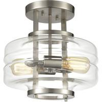 ELK 85282/2 Rover 2 Light 13 inch Satin Nickel Semi Flush Mount Ceiling Light