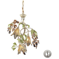 Huarco 3 Light 16 inch Seashell/Sage Green Chandelier Ceiling Light in Recessed Adapter Kit
