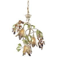 ELK 86051 Huarco 3 Light 16 inch Seashell/Sage Green Chandelier Ceiling Light in Standard