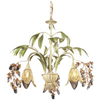 Huarco 3 Light 23 inch Seashell/Sage Green Chandelier Ceiling Light