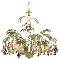ELK 86053 Huarco 6 Light 28 inch Sage Seashell Chandelier Ceiling Light