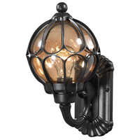 ELK Lighting Madagascar 1 Light Outdoor Sconce in Matte Black with Tea Glass 87020/1