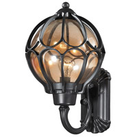 ELK Lighting Madagascar 1 Light Outdoor Sconce in Matte Black with Tea Glass 87022/1