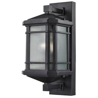 Lowell 1 Light 13 inch Matte Black Outdoor Wall Sconce