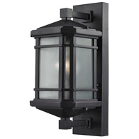 ELK 87041/1 Lowell 1 Light 17 inch Matte Black Outdoor Wall Sconce