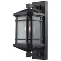 ELK 87041/1 Lowell 1 Light 17 inch Matte Black Outdoor Sconce