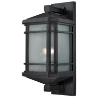 ELK 87042/1 Lowell 1 Light 20 inch Matte Black Outdoor Wall Sconce