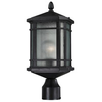 Lowell 1 Light 17 inch Matte Black Outdoor Post Lantern