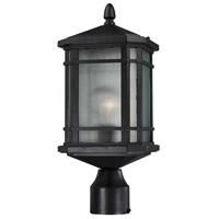 ELK 87044/1 Lowell 1 Light 17 inch Matte Black Post Mount